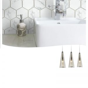 "Carrara White 2""x2-5/16"" Hexagon Mosaic"