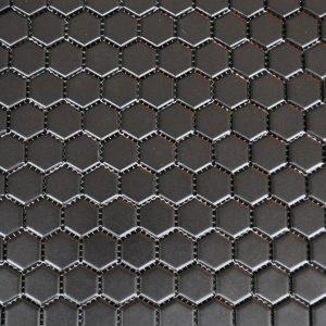 MG Black 1x1 Hexagon Glazed Porcelain