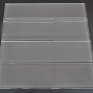 YS514P Charcoal Plain Clear Glass Plank