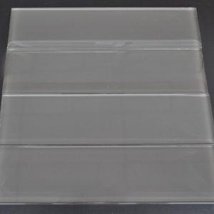 YS514P Charcoal Plain Clear Glass Plank