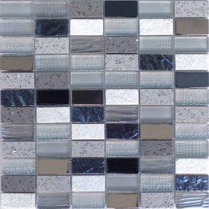 "City Series Grey 1""x2"" Mosaic"