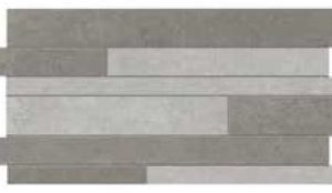 City Antracite/Grigio Random Mix linear mosaic Muretto Mix Milano