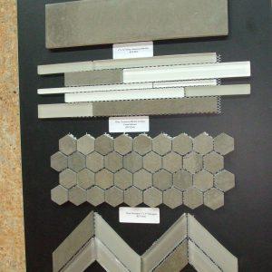 """Grey Foussana 1""""x1"""" Hexagon Honed Marble Mosaic"""