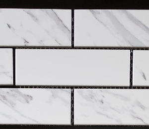 Carrara mosaics 1 ¾ x 5 ¾