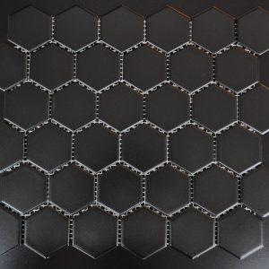 MG Black 2x2 Hexagon Glazed Porcelain