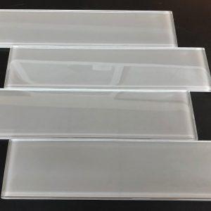 YS523P Smoke Plain Clear Glass Plank
