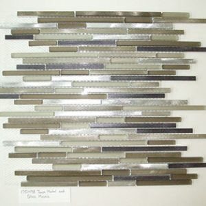 179118 Mosaic Taupe Metal/Glass Interlocking