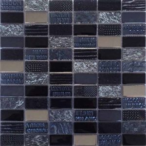 "City Series Black 1""x2"" Mosaic"