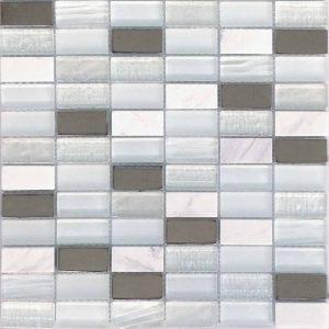 "City Series Blanco 1""x2"" Mosaic"