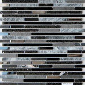 Rainfall Lluvia Negro Mosaic Interlocking