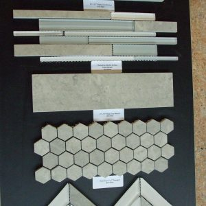 "Thala Grey 1""x1"" Hexagon Honed Marble Mosaic"